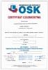 Certyfikat członkostwa Ogólnopolskiej Izby Gospodarczej Ośrodków Szkolenia Kierowców